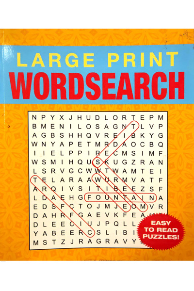 Large Print Word Search for Teens