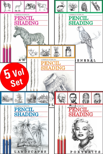 Simple Guide to Pencil Shading Series (5 Vol set)