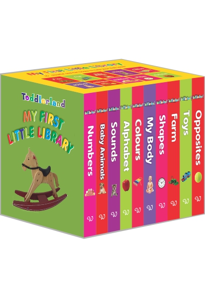 My First Little Library (Box-set of 10 Board Books for Kids)