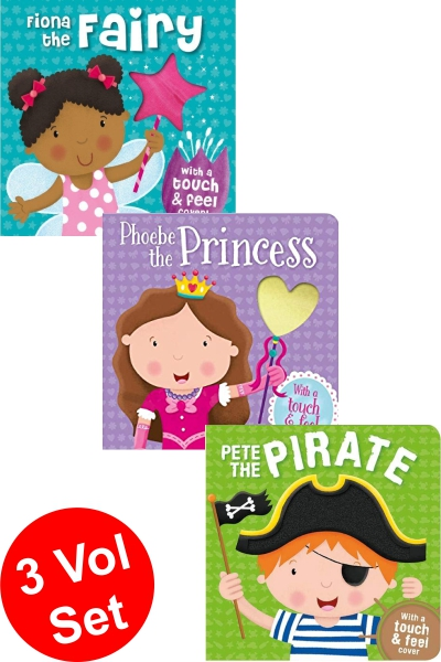 Touch & Feel Board Book Series (3 Vol. Set)