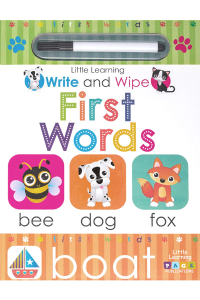Little Learning: Write and Wipe: First Words - Board Book