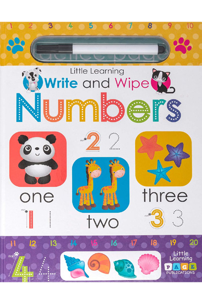 Little Learning : Write and Wipe: Numbers - Board Book