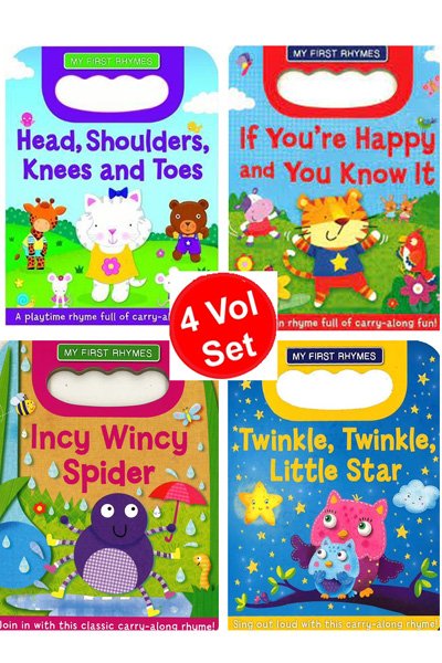My First Rhymes Carry Handle Board Book Series (4 vol set)
