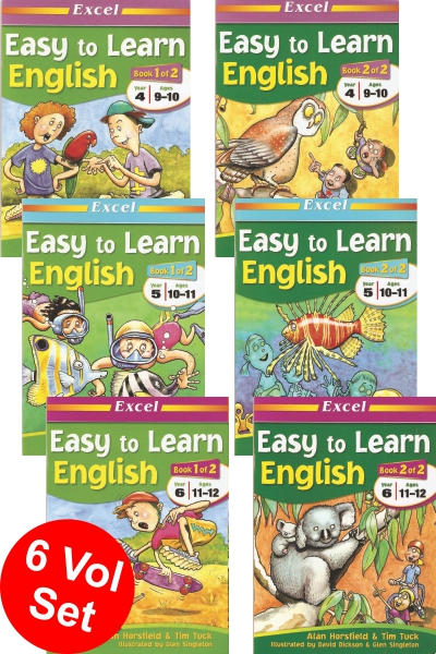 Easy to Learn English Series (6 vol set)