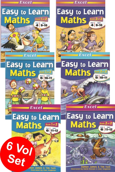 Easy to Learn Maths Series (6 vol set)