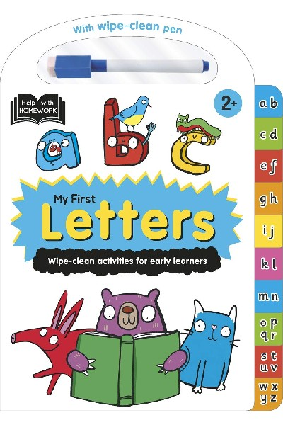 Wipe-Clean: My First Letters - Board Book