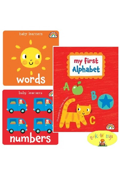 My First Alphabet Collection Numbers & Words Board Book Set