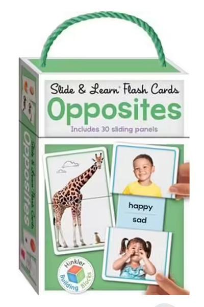 Slide & Learn Flash Cards: Opposites: Building Blocks