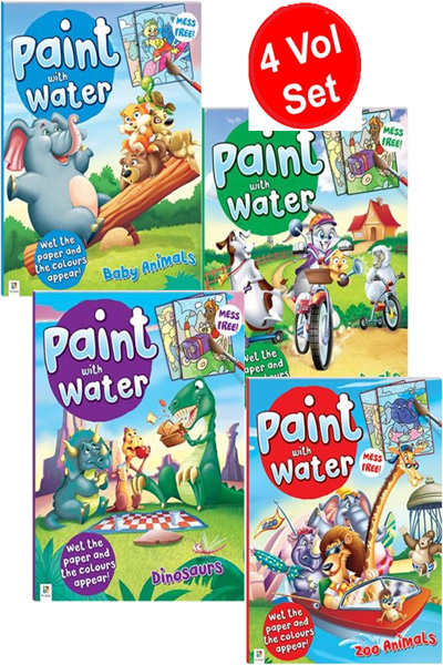 Paint with Water Series (4 Vol Set)