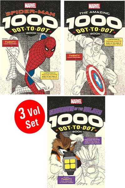 Marvel : Spider-Man 1000 Dot To Dot Book (3 Vol Set)