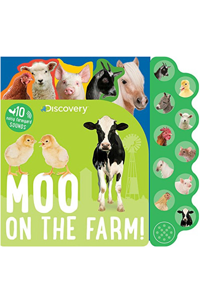 Moo on the Farm! (Discovery Kids) Board Book with Sound