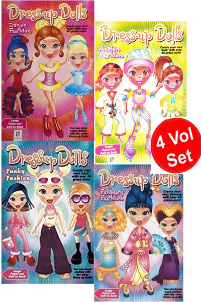 Dress-Up Dolls Press-Out Series (4 Vol Set)