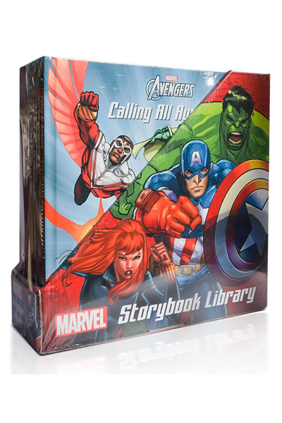 Marvel Superheroes Storybook Library - 6 Books Poster 3D Stickers and Spider-Man Keychain!