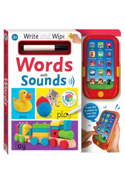 Write & Wipe: Words with Sounds (Board Book)