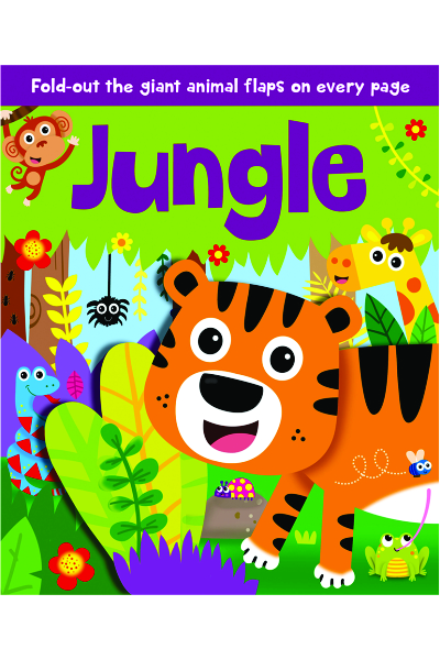 Fold-Out Fun Board Book : Jungle