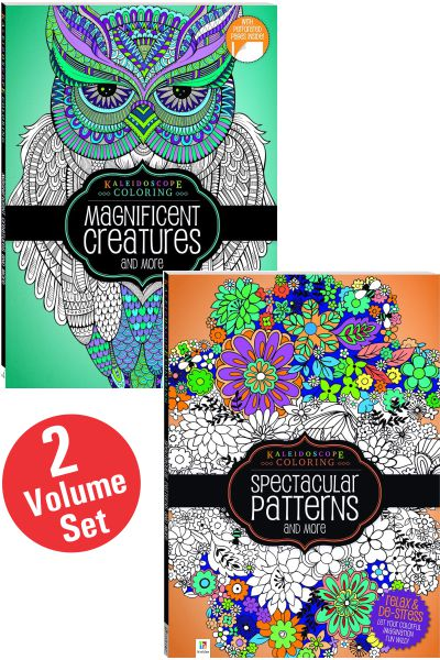 Kaleidoscope Colouring Series (2 Vol Set)