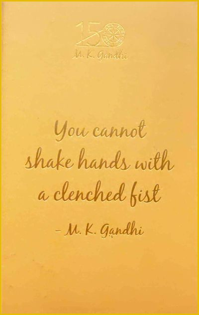 GN: You Cannot Shake Hands With A Clenched Fist (Different colours)