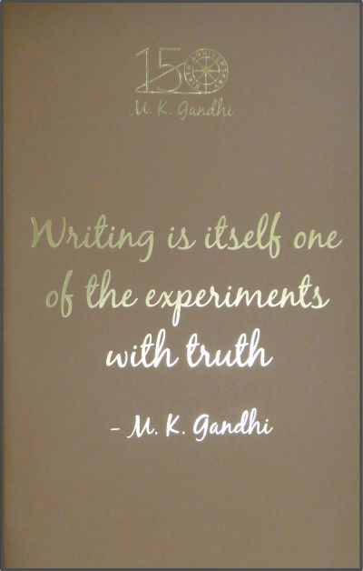 GN: Writing is Itself One of the Experiments with Truth (Different colours)