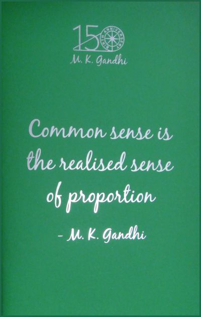 GN: Common Sense is the Realised Sense of Proportion (Different Colours)
