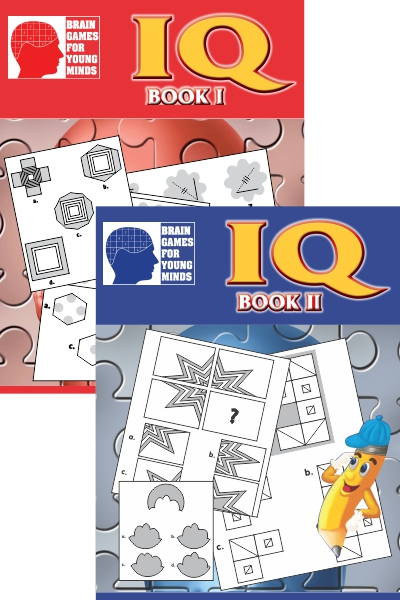 Brain Games IQ Series for Young Minds (2 Vol. Set)