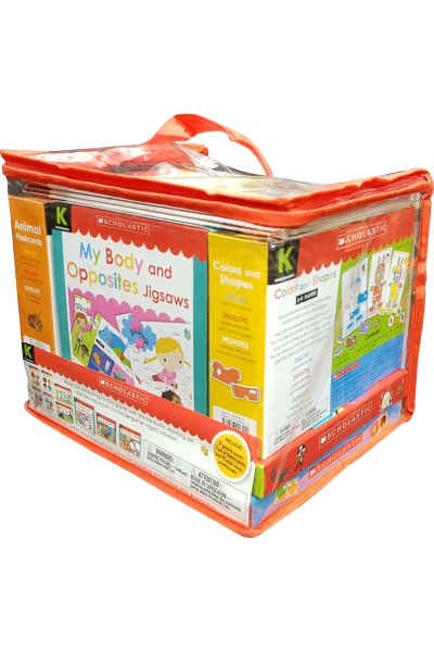Scholastic Kindergarten Learning Set: 4 Wipe-Clean Workbooks Set 1